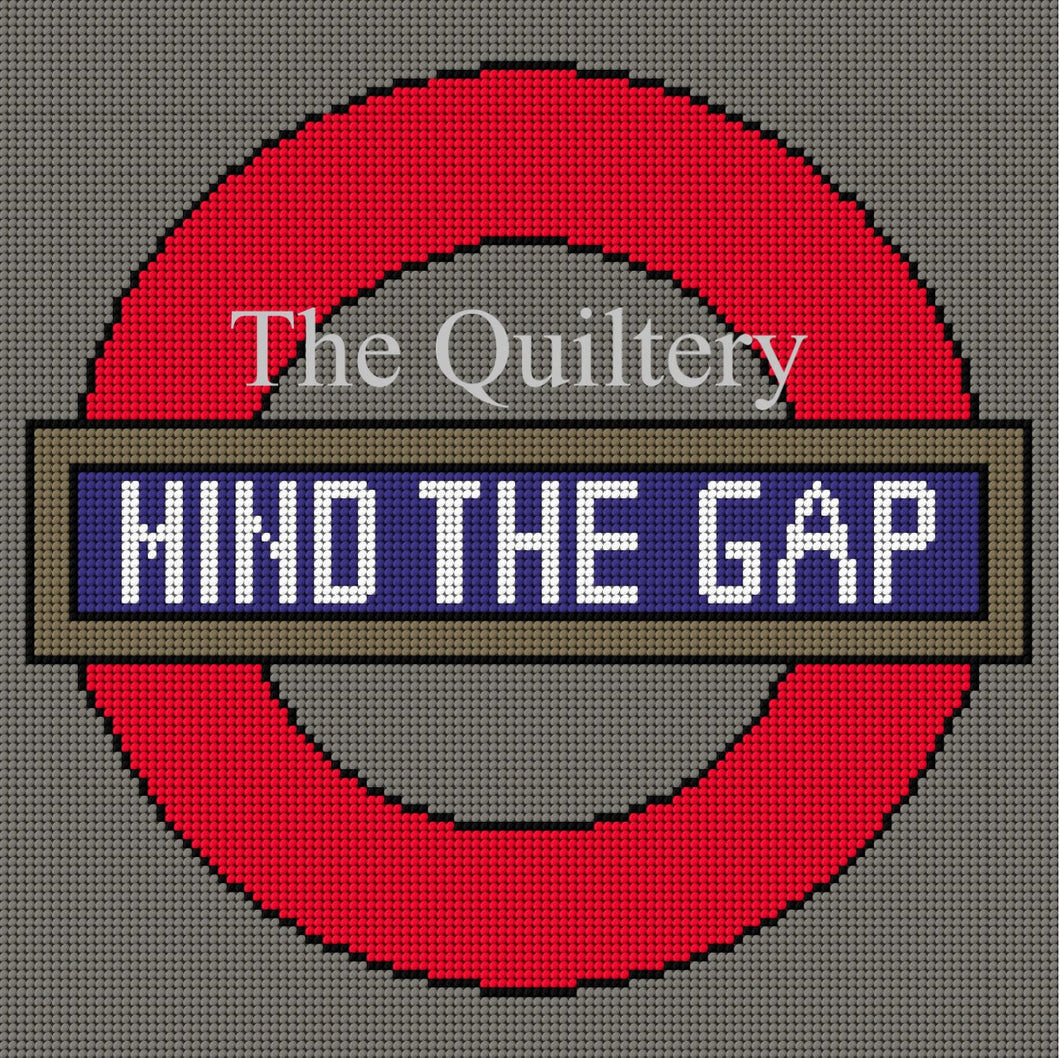 The Quiltery London Series 'Mind The Gap' London Underground Tapestry Kit