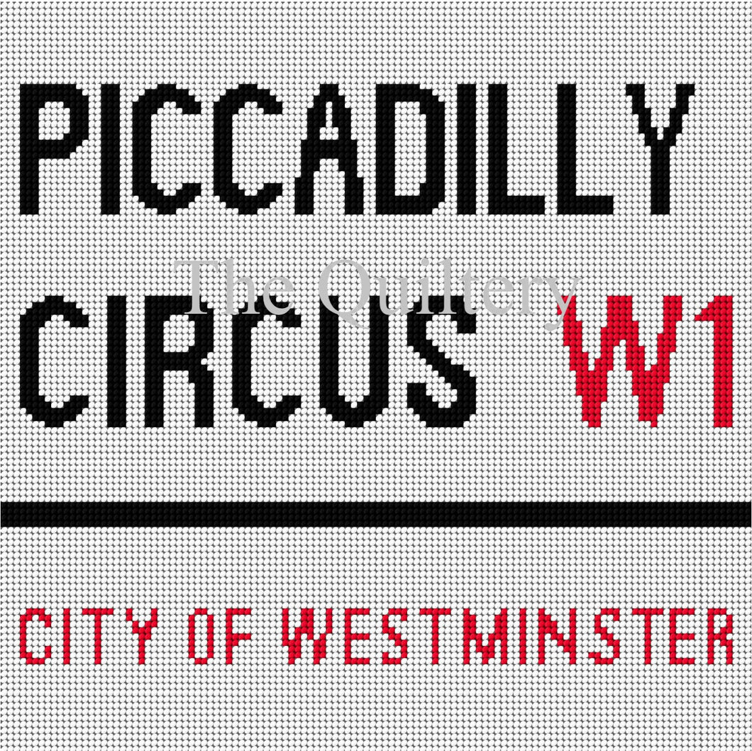 The Quiltery London Series 'Piccadilly Circus' Tapestry Kit