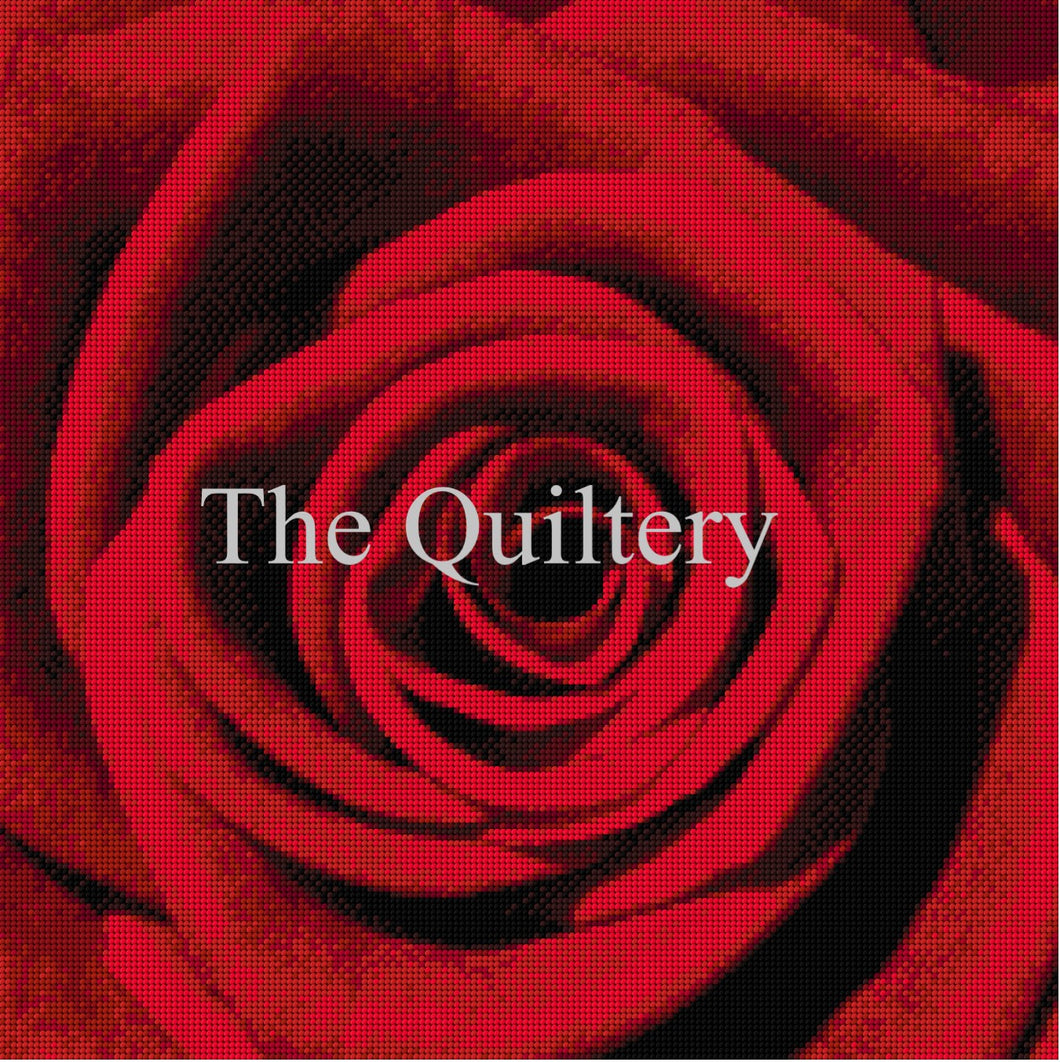 The Quiltery 'Red Rose' Tapestry / Needlepoint Kit
