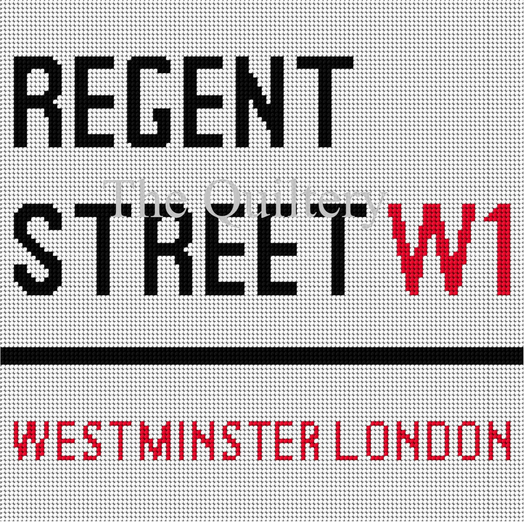 The Quiltery London Series 'Regent Street' Tapestry Kit
