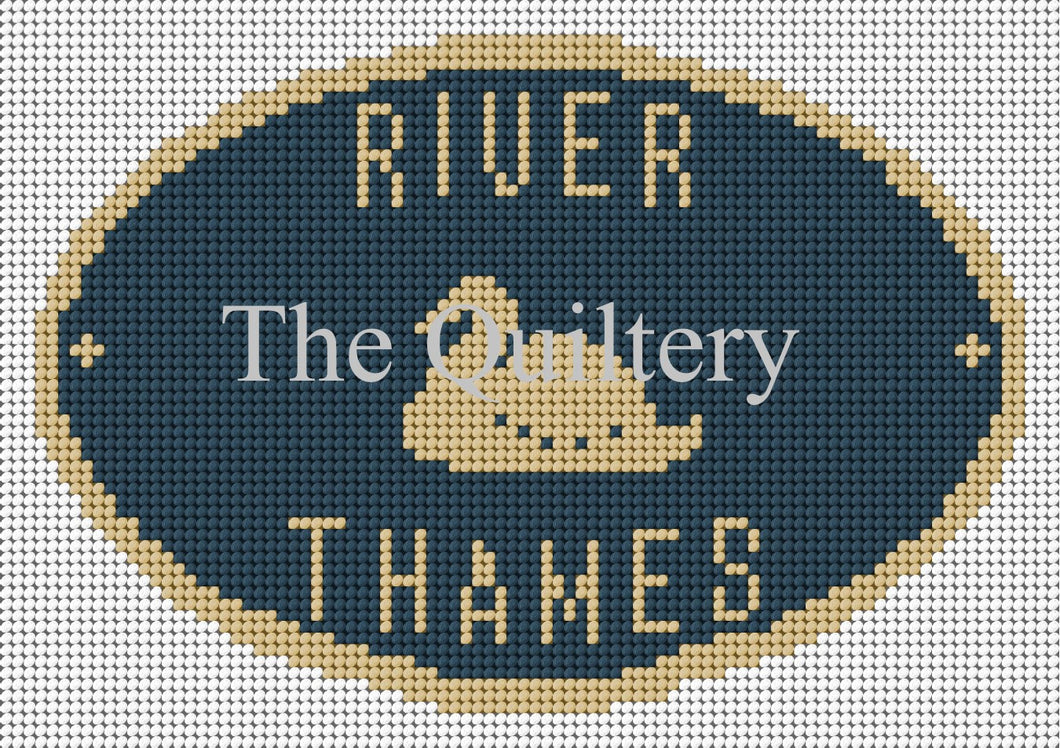 River Thames Canal Plaque Tapestry Kit