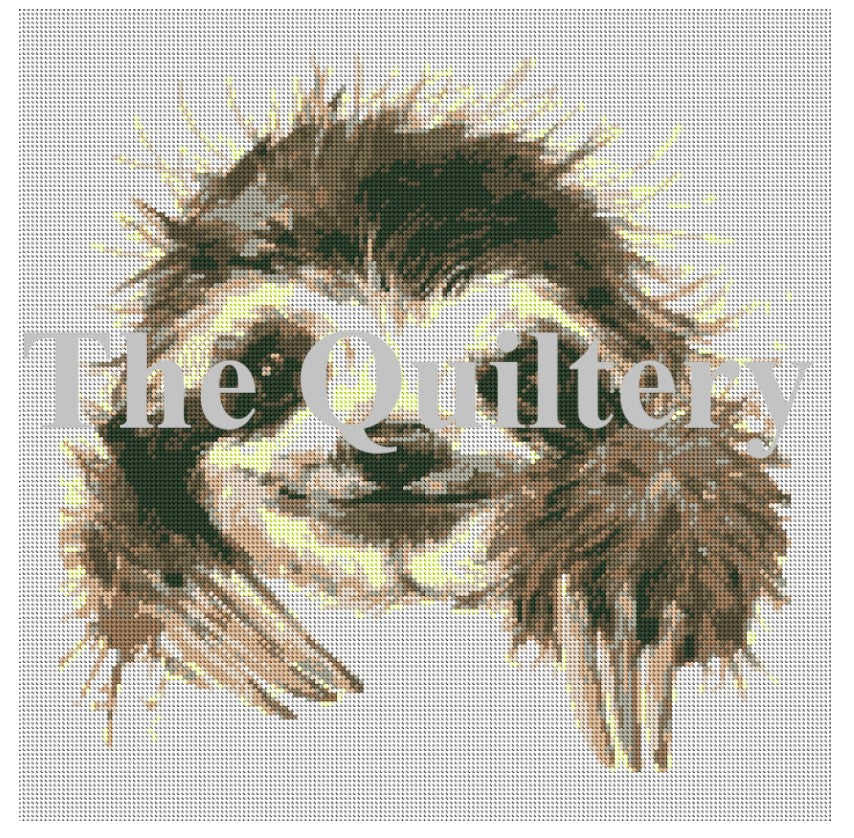 The Quiltery 'Harold' The Sloth Tapestry / Needlepoint Kit