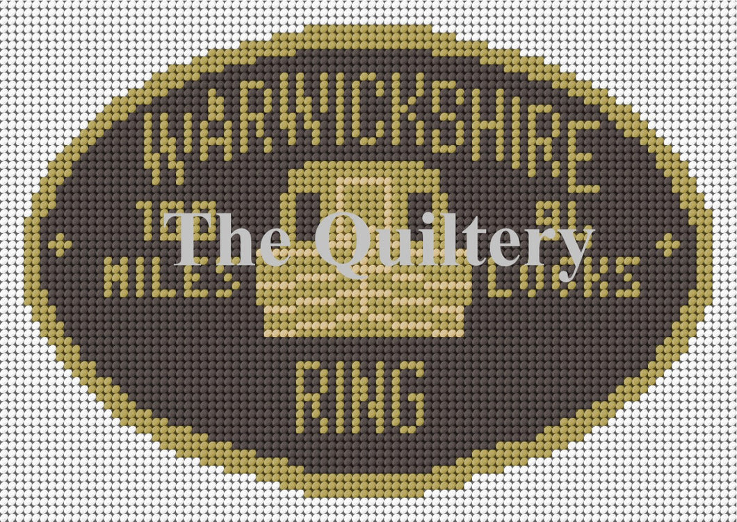 Warwickshire Ring Canal Plaque Tapestry Kit