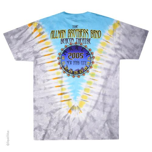 Allman Brothers Band Flying Peach Tie Dye T-Shirt