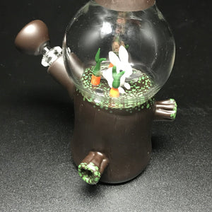 Chad G Glass White Rabbit Dome Mini Tube