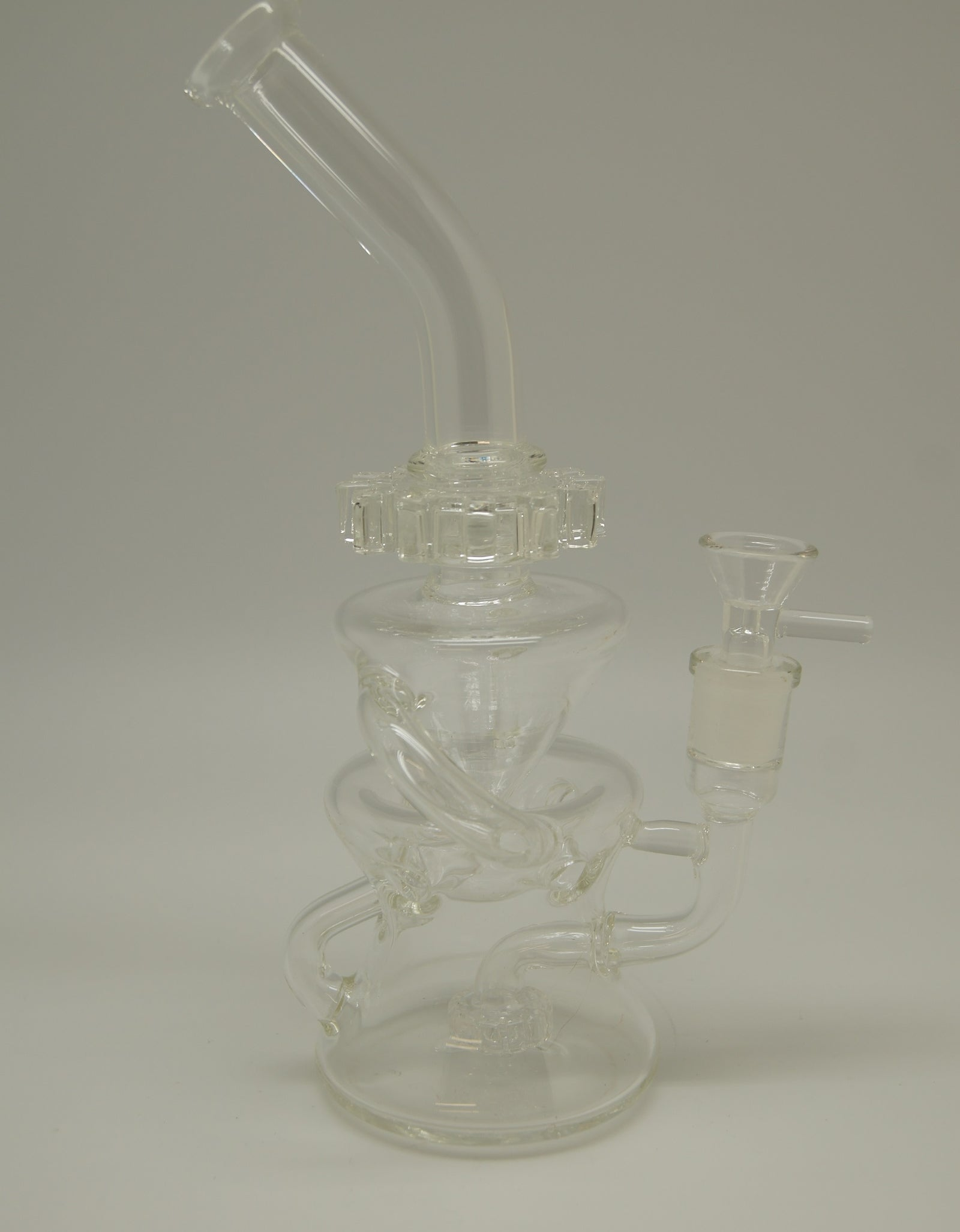 Clear Recycler with Cog Spinner Bubbler
