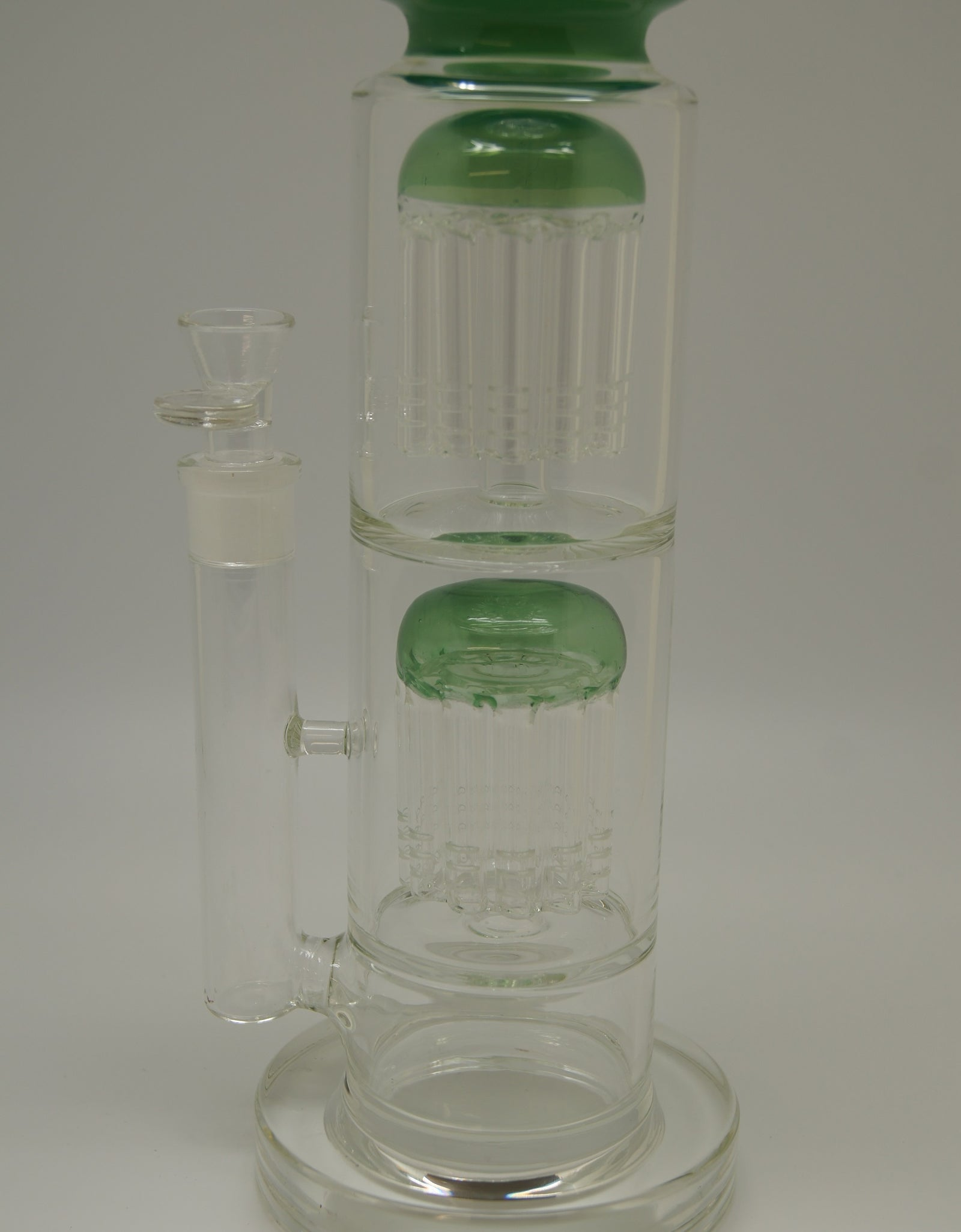 "Color Double Tree Perc 18"" Water Pipe"
