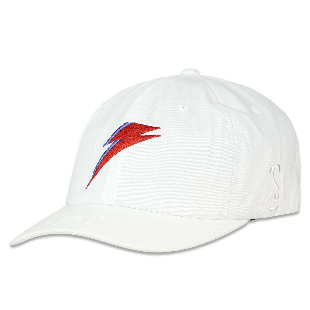 David Bowie Bolt White Dad Hat by Grassroots California