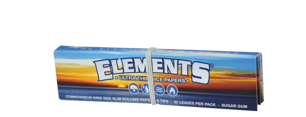 ELEMENTS® Connoisseur King Size Slim Ultra Thin Rice Rolling Papers