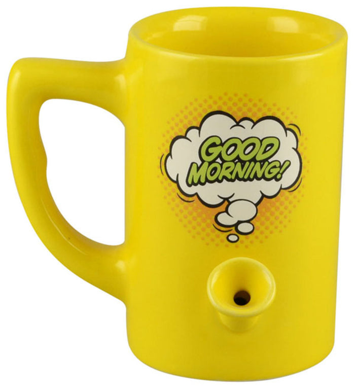 Good Morning Ceramic Pipe Mug
