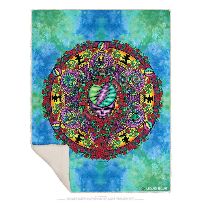 Grateful Dead Celtic Mandala Fleece Throw Blanket