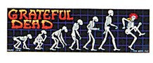 Grateful Dead Evolution Skeletons Sticker