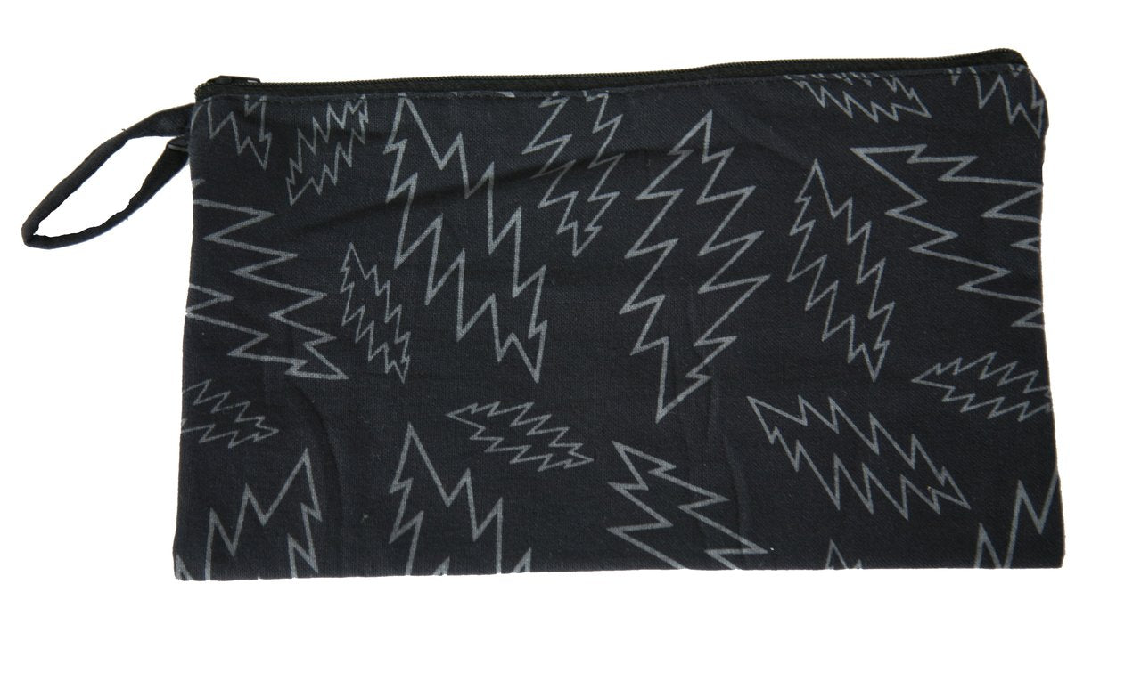 Grateful Dead Lightning Bolt Printed 10x6 Coin Purse