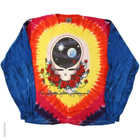 Grateful Dead Space Your Face V Tie Dye Long Sleeve T-Shirt