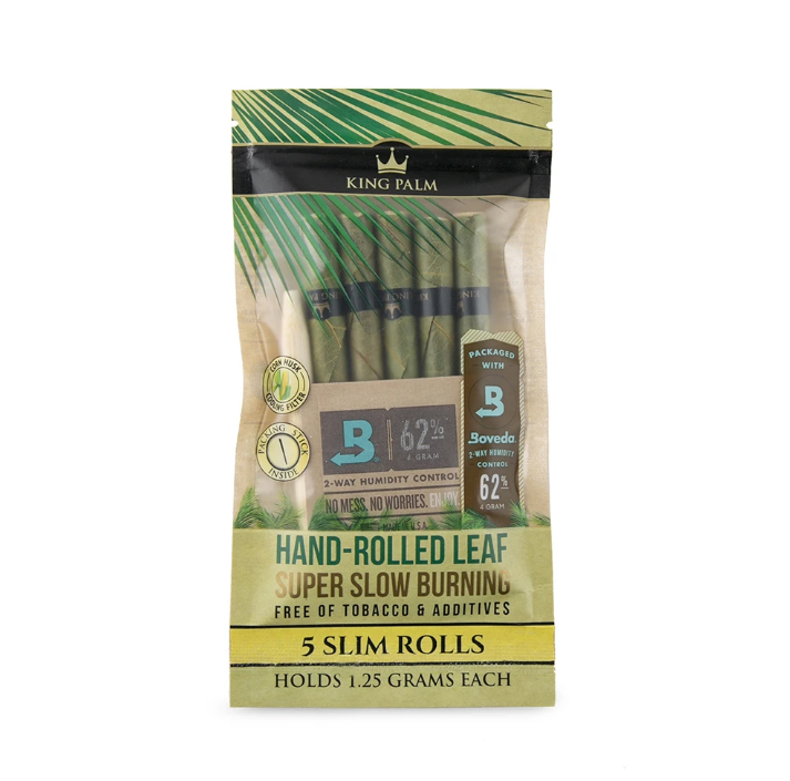 King Palm Slim 5 Pack with Boveda