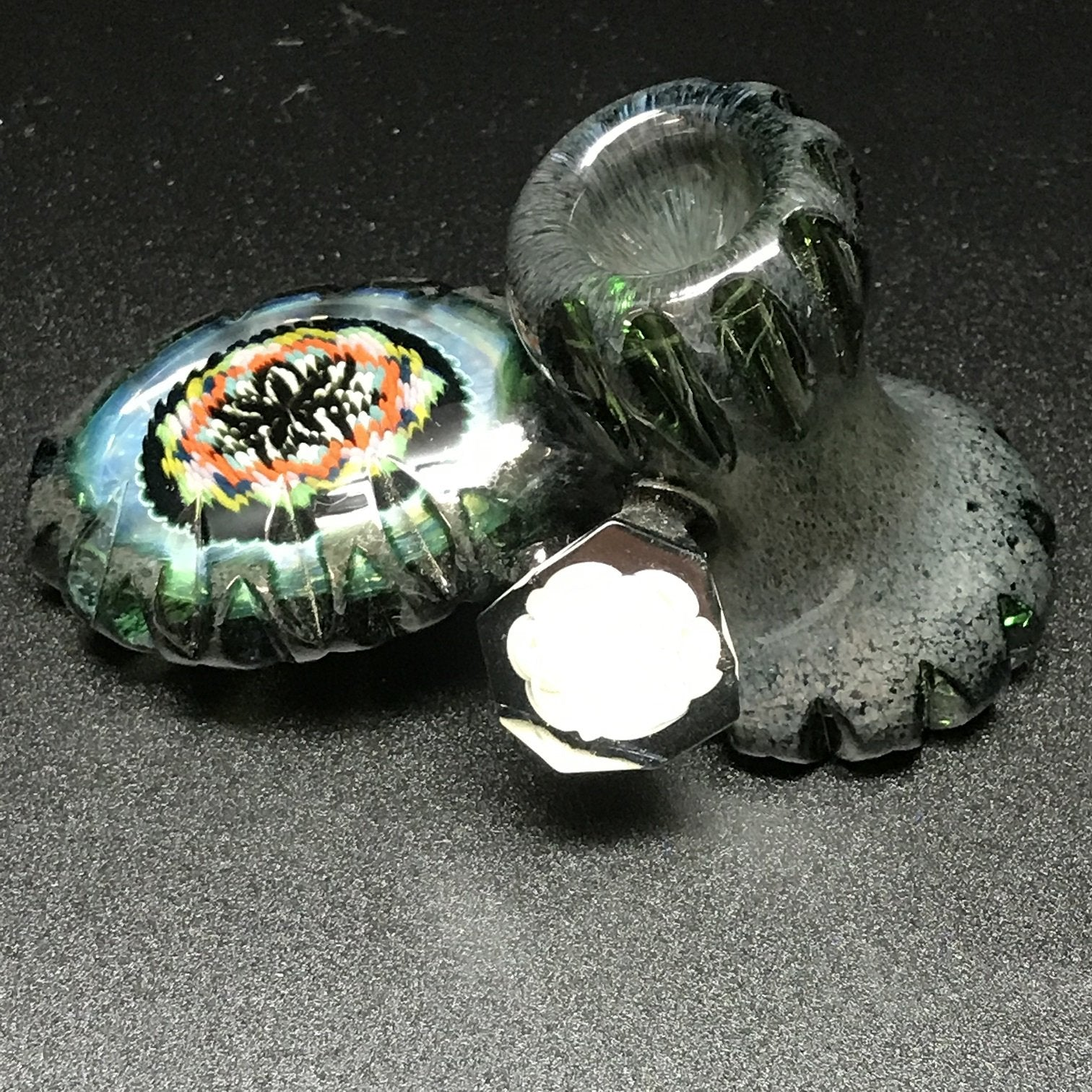 Rotational Science Glass Hand Cut Illuminati Pipe