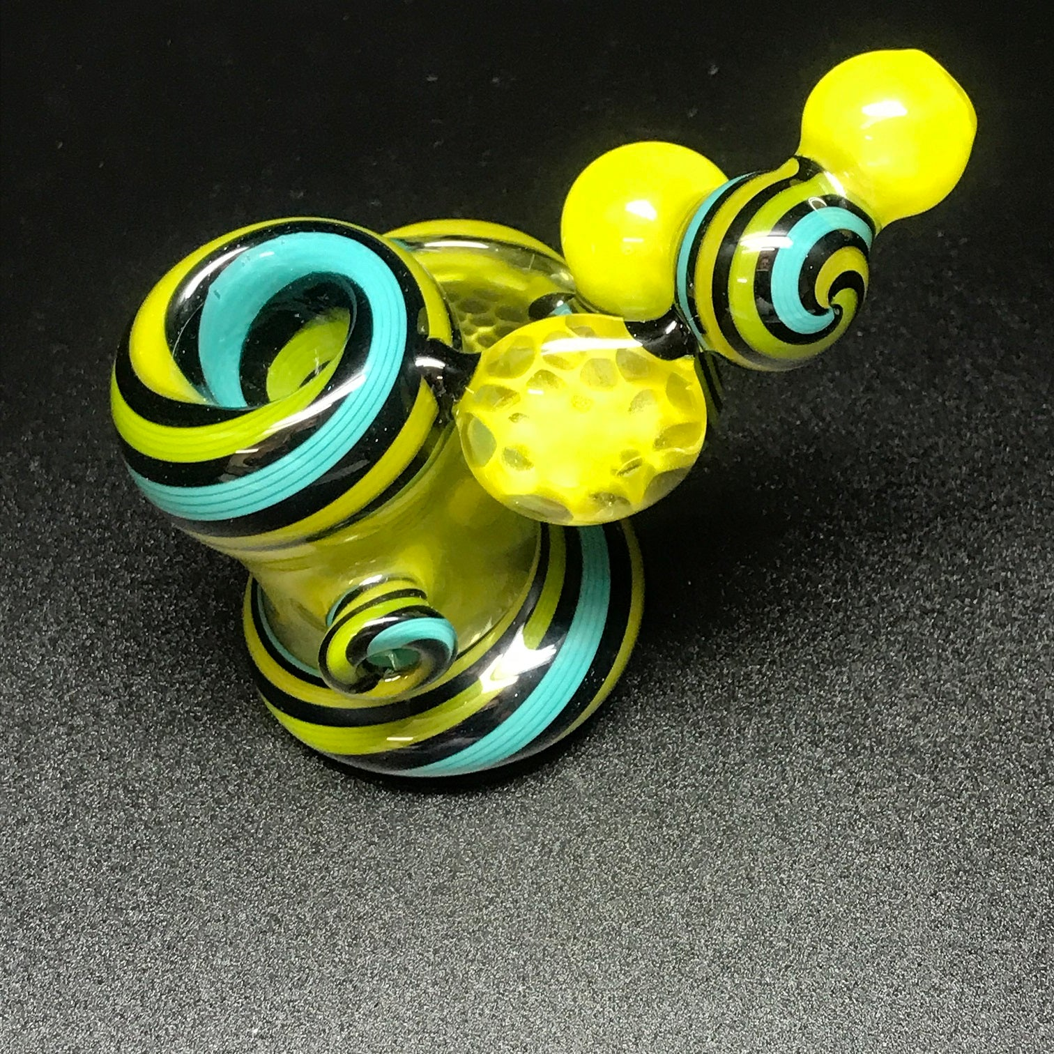 Rotational Science Glass Roswell Honeycomb Swirl Pipe