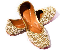 Load image into Gallery viewer, Shanti - Beaded Women's Jutti Flats