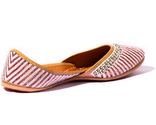 Load image into Gallery viewer, Nikita - Red Beaded Women's Jutti Flats