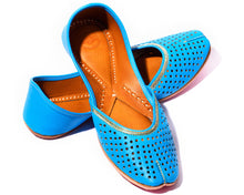 Load image into Gallery viewer, Ranga - Blue Women's Leather Jutti Flats