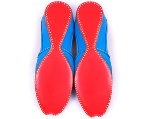 Ranga - Blue Women's Leather Jutti Flats