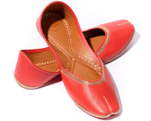 Load image into Gallery viewer, Veda - Red Women's Jutti Flats