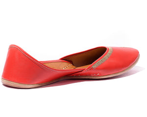 Veda - Red Women's Jutti Flats