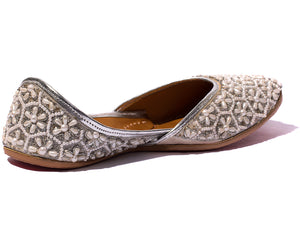 Shanti - Beaded Women's Jutti Flats