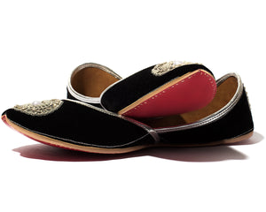 Beloved - Black Fabric Women's Jutti Flats