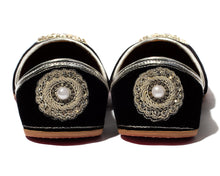 Load image into Gallery viewer, Beloved - Black Fabric Women's Jutti Flats