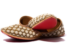 Load image into Gallery viewer, Jasmine Flower - Beaded Women's Jutti Flats