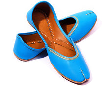 Load image into Gallery viewer, Veda - Sky Blue Women's Jutti Flats