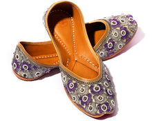 Load image into Gallery viewer, Lotus - Purple BeadedWomen's Jutti Flats