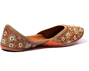 Lotus - Orange BeadedWomen's Jutti Flats
