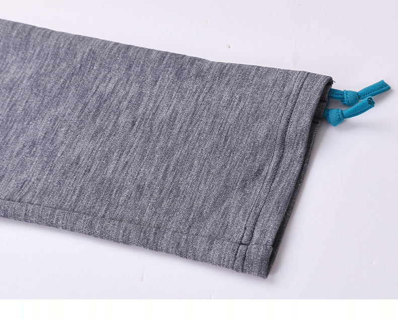 Cozy Orange Helena Crops in Heather Charcoal and Ocean Blue