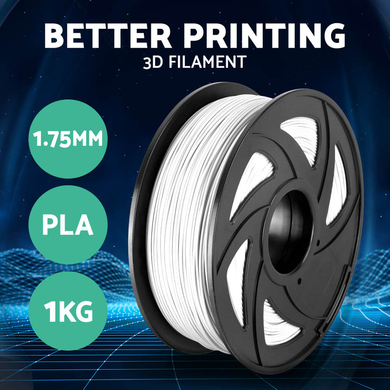 3D Printer Filament PLA 1.75mm 1kg per Roll White - SaleNow | Amazing Sale Everyday
