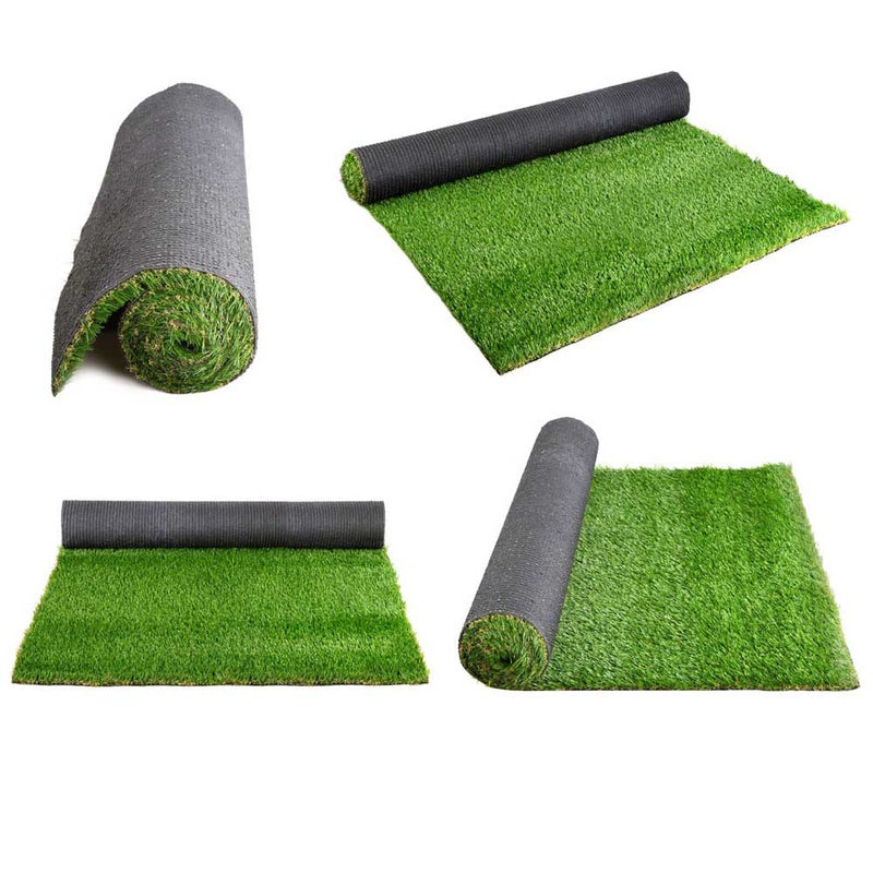 Primeturf Synthetic Artificial Grass Fake 10SQM Turf Plastic Plant Lawn 20mm - Sale Now