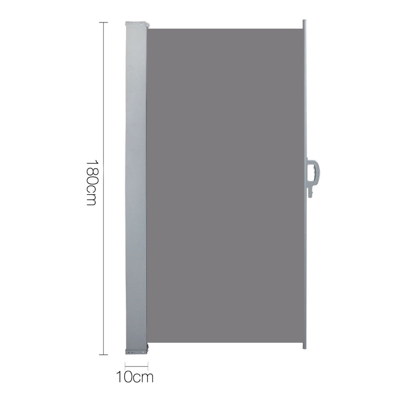 Instahut Retractable Side Awning Shade 1.8 x 3m - Grey - Sale Now