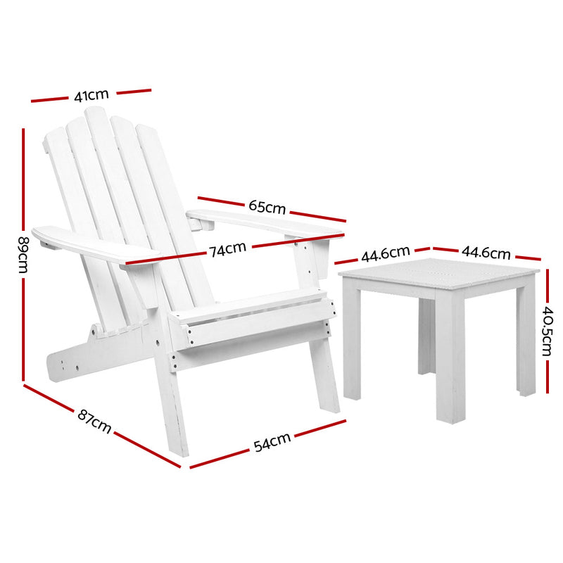 Gardeon 2 Piece Outdoor Beach Chair and Table Set - SaleNow | Amazing Sale Everyday