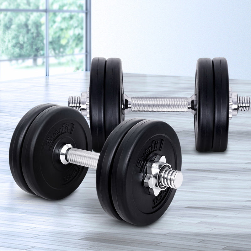 Everfit Fitness Gym Exercise Dumbbell Set 15kg - Sale Now