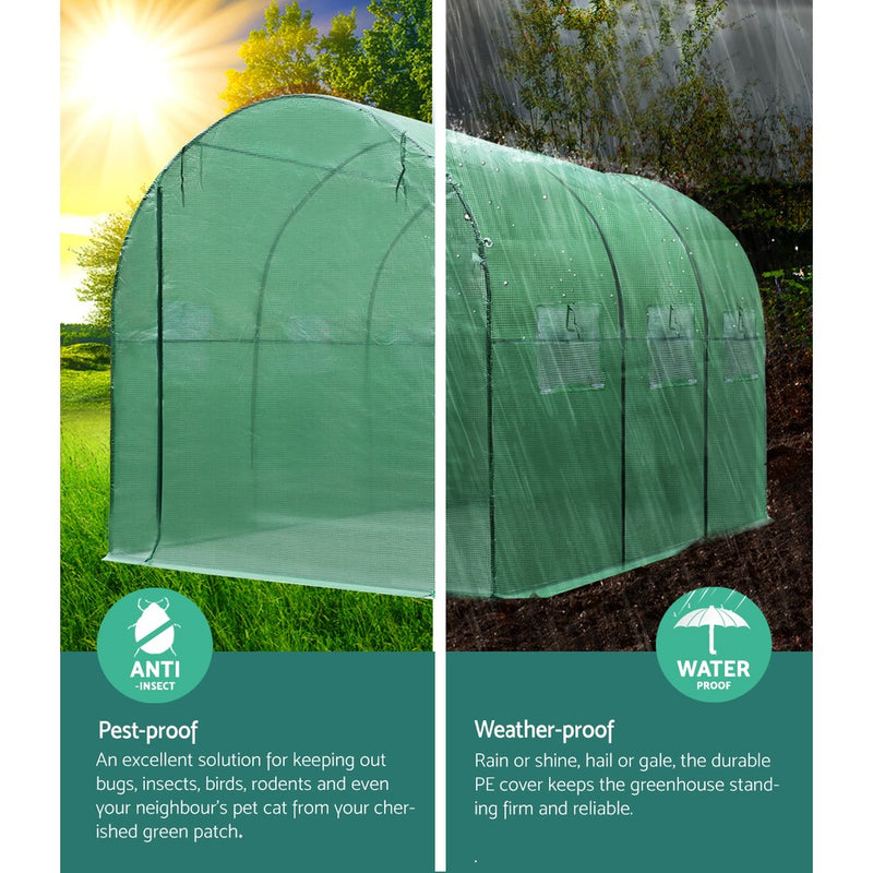 Greenfingers Greenhouse Garden Shed Green House 3X2X2M Greenhouses Storage Lawn - Sale Now