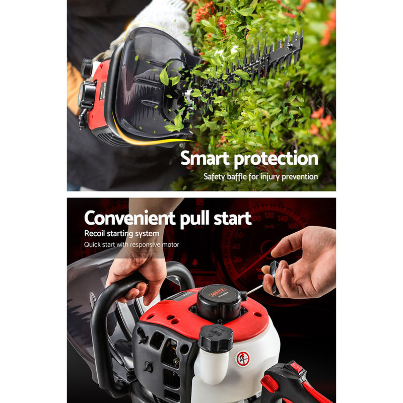 Giantz 26CC Petrol Hedge Trimmer Commercial Clipper Saw Blade Cordless Pruner - Sale Now