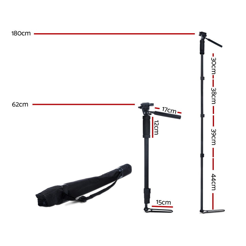 Weifeng Extendable Portable Camera Monopod Tripod - Black - SaleNow | Amazing Sale Everyday