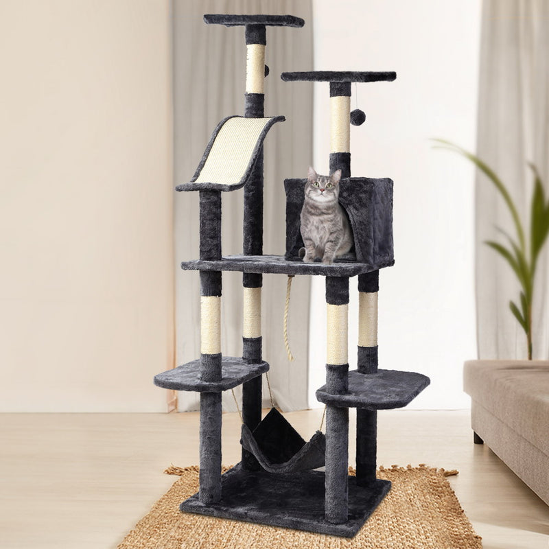 i.Pet Cat Tree 171cm Trees Scratching Post Scratcher Tower Condo House Furniture Wood - Sale Now