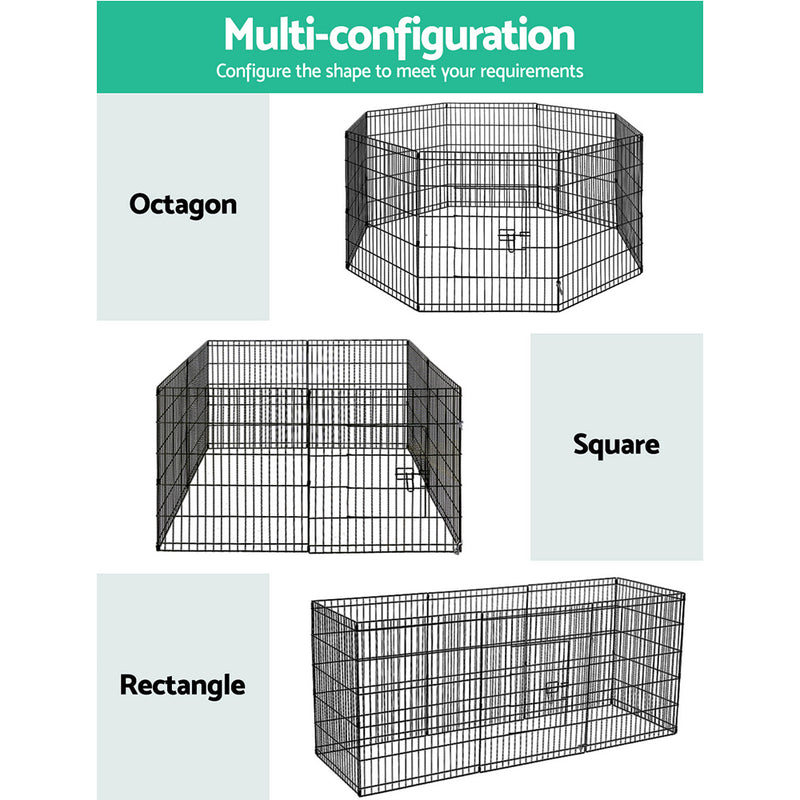 "i.Pet 30"" 8 Panel Pet Dog Playpen Puppy Exercise Cage Enclosure Play Pen Fence - Sale Now"