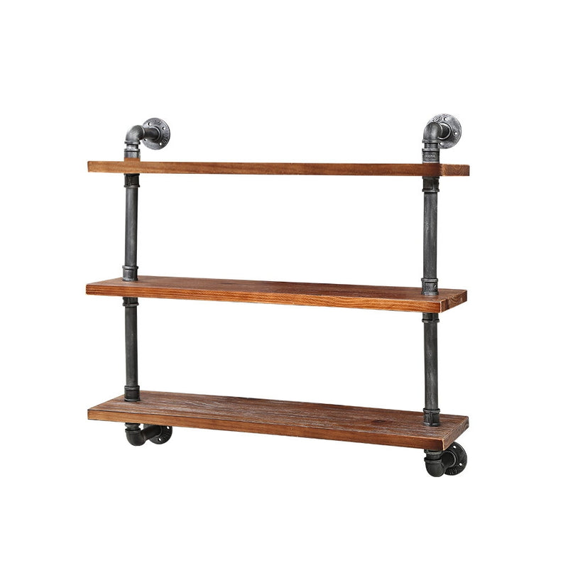 Artiss Display Wall Shelves Industrial DIY Pipe Shelf Brackets Rustic Bookshelf