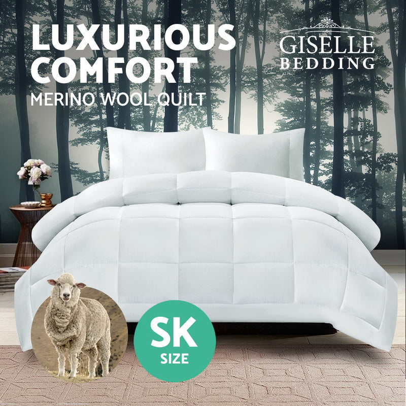 Giselle Bedding Super King Size Merino Wool Duvet Quilt - Sale Now