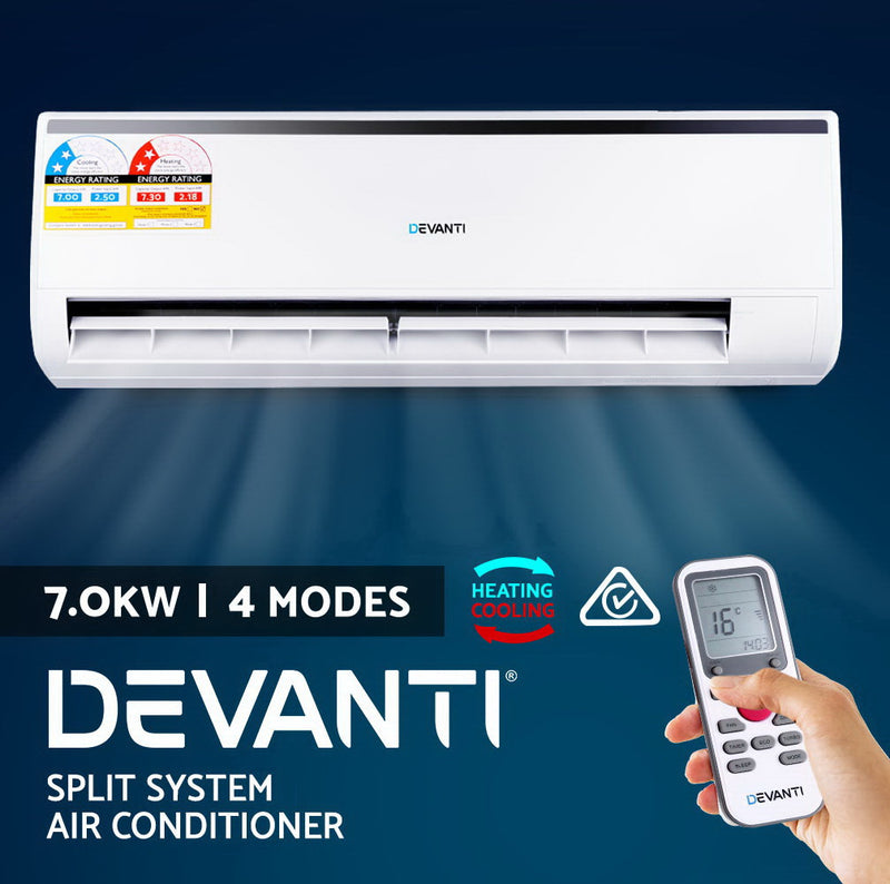 Devanti 7.0KW Split System Reverse Cycle Air Conditioner - SaleNow | Amazing Sale Everyday