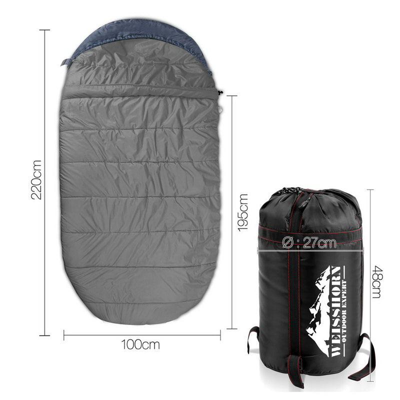 Weisshorn Extra Large Sleeping Bag - Blue & Grey - SaleNow | Amazing Sale Everyday