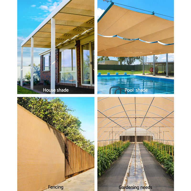 Instahut 1.83 x 20m Shade Sail Cloth - Beige - Sale Now